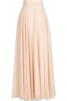 Feel absolutely beautiful in the Chiffon Circle Skirt! Its fluid silhouette is full of volume and gives way to easy strides and beautiful movement. Smart details like side pockets and full lining w. Full Skirt Outfit, Long Skirt Outfits, Long Maxi Skirts, Cute Skirts, Modest Outfits, Dress Skirt, Dress Outfits, Abaya Fashion, Modest Fashion