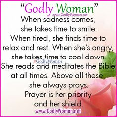 A Godly Woman her shield and her priority is prayer. ♥ ♥ ♥ Read More Godly Woman Inspiration >>> http://godlywoman.net/inspiration/