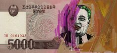 On Defaced North Korean Money, 'Great Leader' As Comic Book Villains - DesignTAXI.com