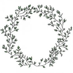 Perfect for spring notecards, scrapbooking etc. Hand drawn spring wreath vector and png.