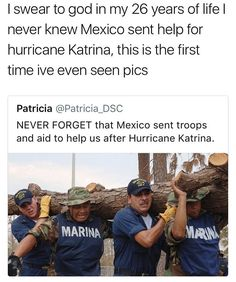 It's true. They always offer help after a disaster. So do other Latin American countries. Sometimes our country doesn't accept it.