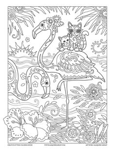 Flamingos : Creative Kittens Coloring Book by Marjorie Sarnat