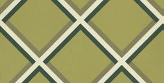 Pergola Olive (W0018/01) - Clarke & Clarke Wallpapers - A striking geometric design in stunning bold colouring - Showing in black and white on a olive green background - other colour ways available. Please request a sample. Paste-the-wall product.