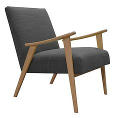 With its stylish simplicity and '50s inspired silhouette, our 'Kempton' armchair perfectly embodies the Scandinavian, mid-century aesthetic. Ideal for complementing modern and open living spaces, it features a solid beech wood frame which is balanced by the contemporary, super-soft grey fabric finish.
