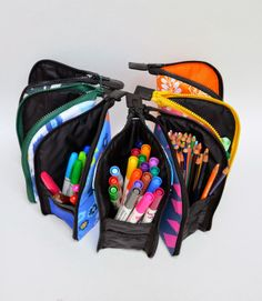 ikat bag: A Better Marker Pouch - stand up markers/pencils pouch #tutorial #FoPRR