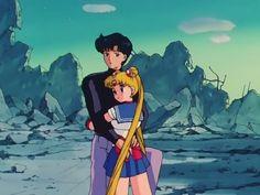 Usagi and Mamoru (Sailor Moon) (c) Toei Animation & Viz Media Sailor Moon Pose, Sailor Moon Quotes, Arte Sailor Moon, Sailor Moon Usagi, Sailor Uranus, Sailor Mars, Sailor Moon Aesthetic, Aesthetic Anime, Sailor Moon Screencaps