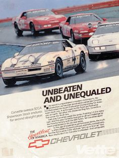 As shown in this ad, the #4 was always ahead of the rest.  The #4 Bakeracing Race Car was always on the Podium, winning more races than any other pro raced C4.  For more information go to: www.4corvette.com.