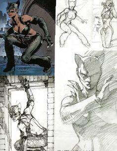 Jim Lee Halle Berry Catwoman art. Bad movie great art Comic Book Artists, Comic Books Art, Comic Art, Batman Girl, Batman And Catwoman, Catwoman Halle Berry, Comic Character, Character Design, Jim Lee Art