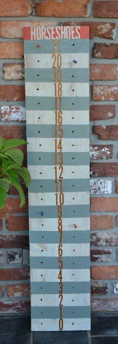 horseshoe scoreboard / gameboard