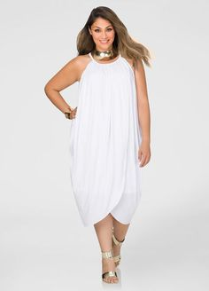 Draped Goddess Dress-Plus Size Dresses-Ashley Diva Fashion, Cute Fashion, Plus Fashion, Plus Size Maxi Dresses, Plus Size Outfits, Shift Dresses, Plus Size Fashionista, Goddess Dress, Draped Dress