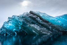 Rare Photographs of a Flipped translucent Iceberg