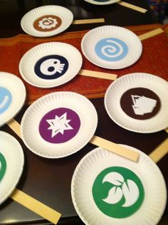 I found many of these ideas on Pinterest and modified them to work for my son's Skylander party!