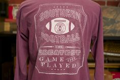 Find this Long Sleeve Southern Football Tee at J.R. Crider's Clothing & Apparel in Downtown Dahlonega! | www.jrcriders.com