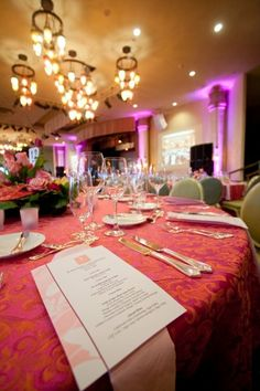 Pink wedding details | The Royal Hawaiian, a Luxury Collection Resort | Monarch Ballroom