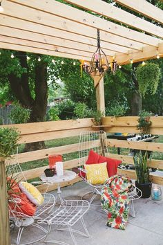 Styling a pergola #buildyourowndeck