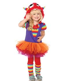 Rainbow Monster Girls Toddler Costume | TODDLERS