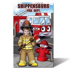 "Full Custom Fire Department Photo Prop - 46"" x 74"""