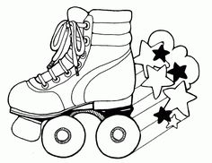 Coloring page The girl on roller skates – Play coloring with us Coloring Book Pages, Coloring Pages For Kids, Coloring Sheets, Roller Derby Tattoo, Kids Roller Skates, Derby Skates, Son Luna, Puzzles For Kids, Roller Skating