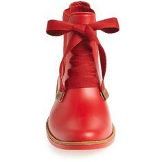 Women's Bernardo Footwear Lacey Short Waterproof Rain Boot (€145) ❤ liked on Polyvore featuring shoes, boots, ankle booties, ankle boots, short boots, waterproof rain boots, short booties, rain boots and short rain boots