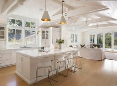 Rustic Home Decor The Coral House.Rustic Home Decor The Coral House Open Plan Kitchen, New Kitchen, Home Renovation, Home Remodeling, Coastal Living Rooms, Living Room Kitchen, House Rooms, House Floor Plans, Great Rooms