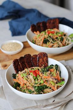 This recipe is as delicious as the title is long. Many of ournourish bowls are rice-based and I've been craving noodles for the past week and decided to