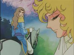 El duelo de Oscar François de Jarjayes y el conde de Girodelle. Resulta triunfador Lady Oscar.