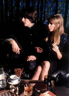 john-lennons-sideburns:  George Harrison and Pattie Boyd