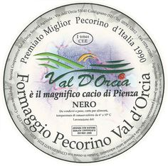 Cheese Packaging - Formaggio Pecorino Val d'Orcia - Siena - Tuscany - Italy