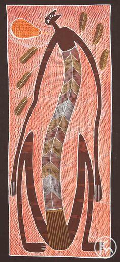 """Mimi Spirits"" by Edward Blitner 46cm x 110 $2,200  http://www.aboriginalartstore.com.au/artists/edward-blitner/mimi-spirits-(13042486)/"