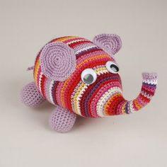 Hæklet elefant - danish pattern