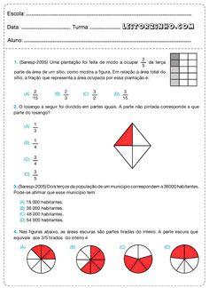 Atividades de matemática para o 5° ano com frações