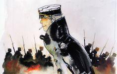 Hugo Pratt - Corto Maltese acquarel