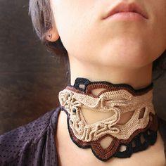 strangely beautiful crochet jewelry