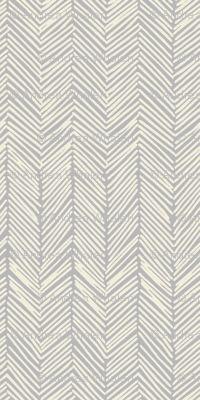 Freeform Arrows in cream on gray