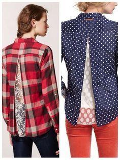 ✂Como aumentar a blusa que não serve mais ou embola no quadris nas costas (com renda ou tecido) ✂
