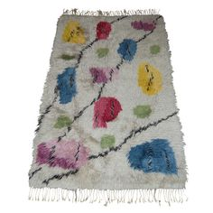 Vintage Swedish Modern 3x6 Floral Shag Rya Rug   From a unique collection of antique and modern more carpets at http://www.1stdibs.com/furniture/rugs-carpets/area-rugs-carpets/