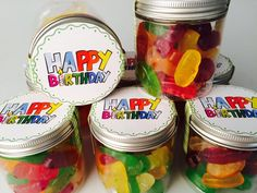 Giveaways, Jar, Birthday, Personalised Sweets, Guest Gifts, Round Round, Decorating, Table, Kids