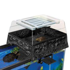 """17""""; L X 14""""; W X 10""""; H, Maximize swimming & basking space w/this unique above-tank platform. Creates a natural aquatic turtle environment & includes an underwater resting platform as well. Fits most rectangular tanks up to 55 gallons."""