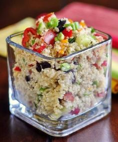 Mediterranean Quinoa Salad - the most popular HEALTHY EATING recipe,also our most popular vegetarian dish as well. Totally easy to make and ...