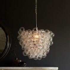Bubbles hanging over a bathtub? Sweet Droplet Glass Pendant | West Elm $399
