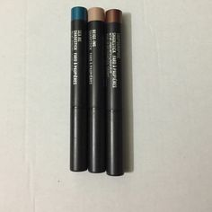 Mac shadestick shade sticks lot of 3 Swatched but never used: beige-ing, taupographic, and sea me. They are the mini size 0.4g each MAC Cosmetics Makeup Eyeshadow
