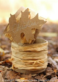 Simple Fall Napkin Rings ~ pretty and easy to make. | Instructions at I Gotta Create!