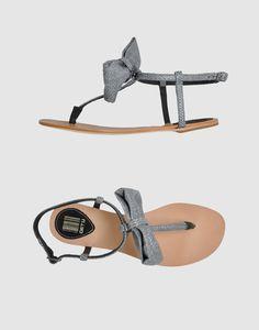 grey raffia sandals with a bow. on sale...