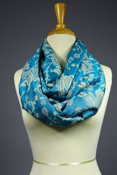 Hey, I found this really awesome Etsy listing at https://www.etsy.com/listing/122536844/turquoise-infinity-scarf-paisley-women