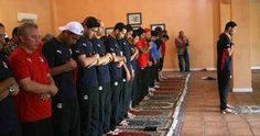 "Muslim athletes praying at the Olympics. ""Love comes before obedience."" ~Shaykh Ahmed Babikir"