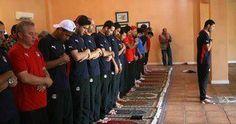Muslim athletes praying at the Olympics