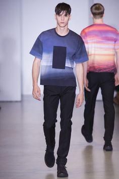 Tendances hommes - Les imprimés de l'été 2014 - Le défilé Calvin Klein printemps-été 2014