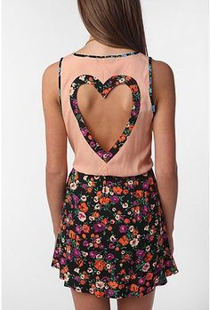 Heart cut out dress... Urban Outfitters
