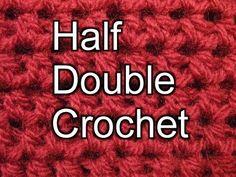 Beginner Crochet Stitches 4 - Half Double Crochet - Slow Motion