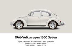 VW Beetle 1966 deluxe sedan 1300